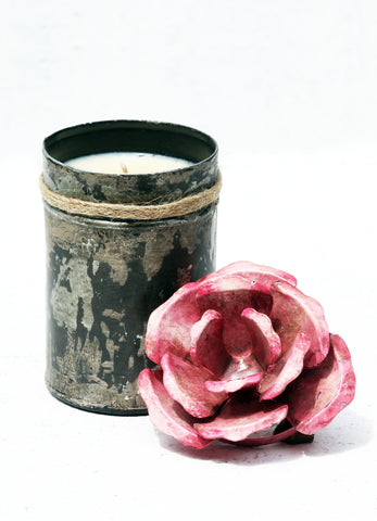 """Spice Tin With Rose Lid Pink (Large)"""