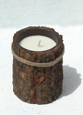 """Tree Skin Candle Container (Large)"""