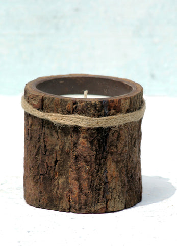 """Tree Skin Candle Container (Small)"""