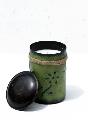 """Chilli Pot Candle Green"""