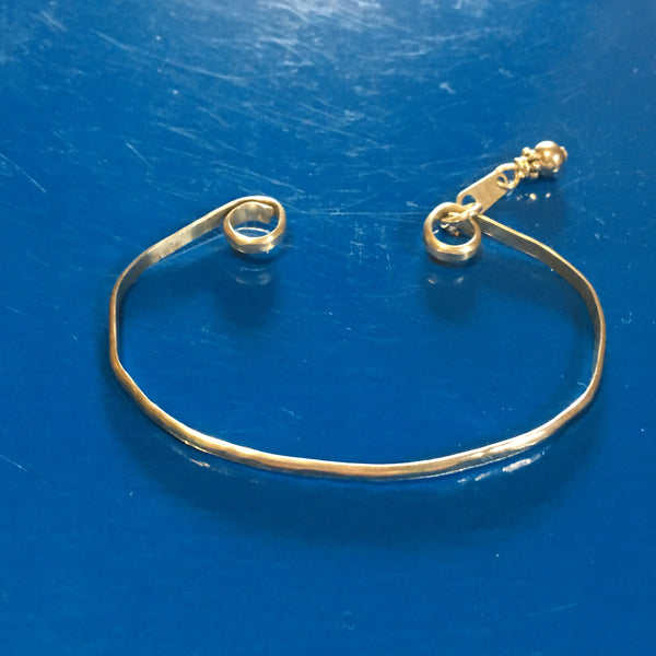 Hammered Sterling Silver Bangle-Small B73