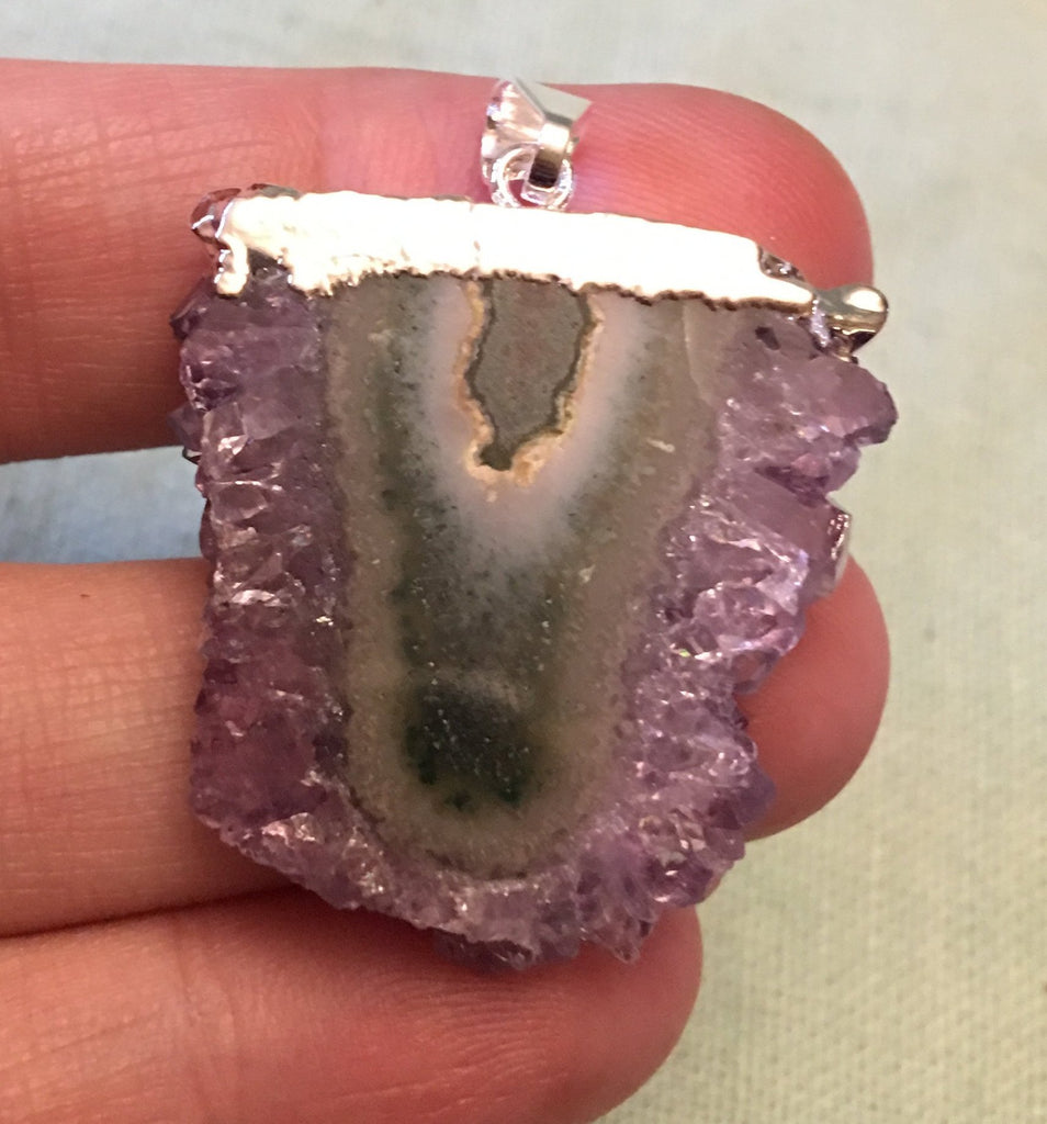 Amethyst Slice Pendant ETC39 NEW