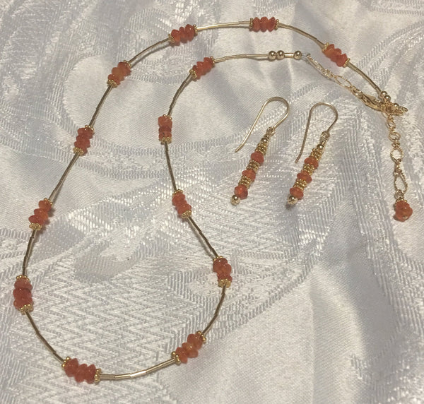 Carnelian Necklace N121 Just reduced