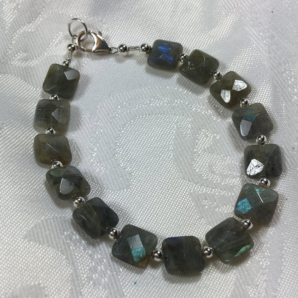 Faceted Labradorite Bracelet B92 New for fall