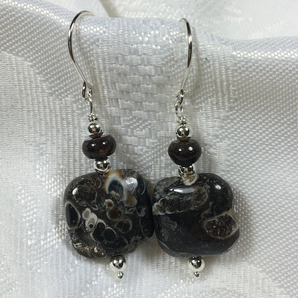 Turritella Agate  Earrings E97 New for Fall