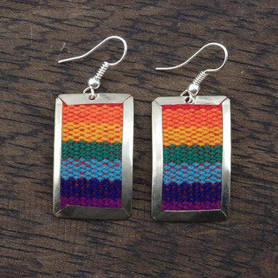Flat Peruvian Fabric Earrings
