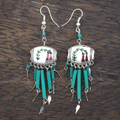 Dolores Peruvian Beaded Earrings