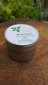 "Soy Wax Massage Candle ""MELLOW OUT"""