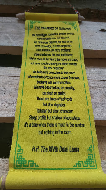 Paradox Of Our Age Scroll - Yellow - Pure & Simple Holistic