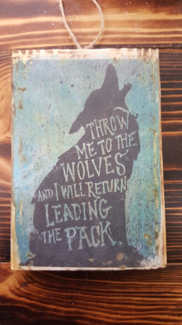 Native American Wisdom Plaque - Wolves