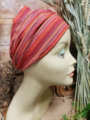 Cotton Hair Wrap/Headband *Red