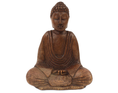 Medium Wooden Buddha - Pure & Simple Holistic