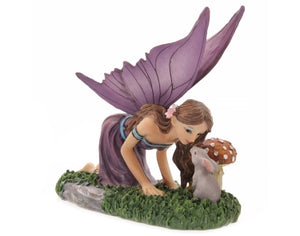 Fairy Kneeling Kissing rabbit - Pure & Simple Holistic