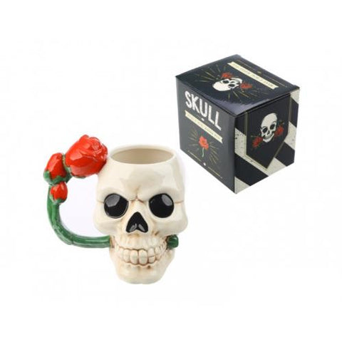 Skull and Rose Mug - Pure & Simple Holistic