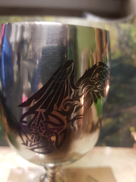 Ritual Chalice -Raven and Pentacle