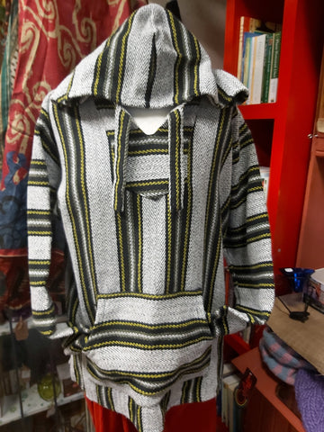 Baja Hoodie -Black/Yellow Striped
