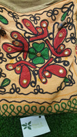 Beige Embroidered Shoulder Bag - Pure & Simple Holistic