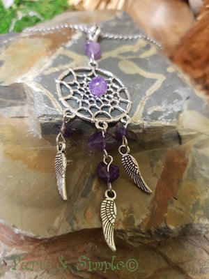 Dreamcatcher Pendant with Amethyst