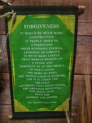 Forgiveness Scroll -Green