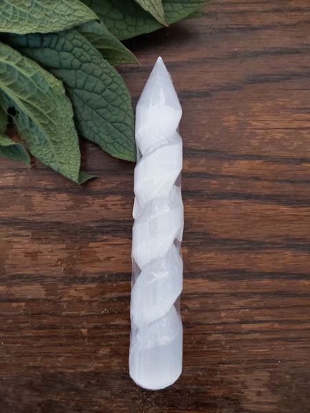 Selenite Unicorn Wand