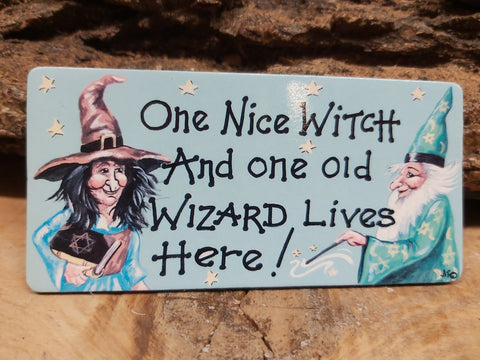 One Nice Witch...Fridge Magnet