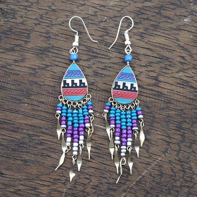 Inca Pattern Earrings