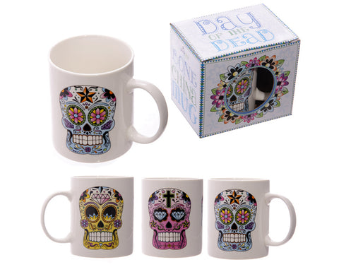 Day of the Dead Bone China Mug - Pure & Simple Holistic