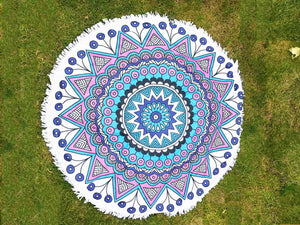 Round Mandala Throw - Coloured