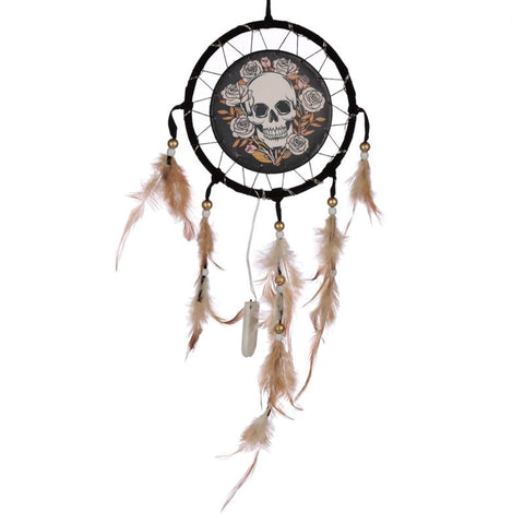 Skull and Roses Dreamcatcher
