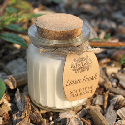 Linen Fresh Soy Bean Candle