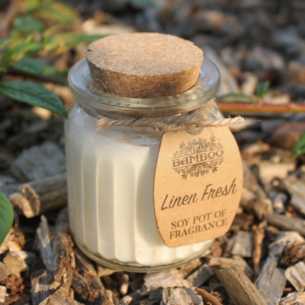 Linen Fresh Soy Bean Candle - Pure & Simple Holistic