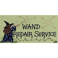 """Wand Repair Service"" Witch Plaque - Pure & Simple Holistic"