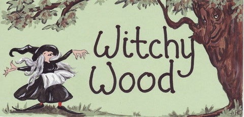 """Witchy Wood"" Witch Plaque - Pure & Simple Holistic"