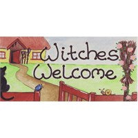 """Witches Welcome""  Witch Plaque - Pure & Simple Holistic"