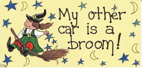 """My other car is a broom"" Witch Plaque - Pure & Simple Holistic"
