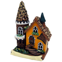 Yellow Fairy House with Tower