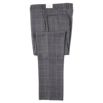 Luigi Bianchi Gray Windowpane Wool Pants