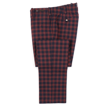 PT01 Red and Blue Check Cotton Pants