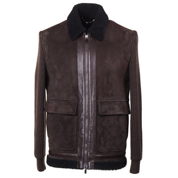 Cesare Attolini Shearling-Lined Suede Jacket - Top Shelf Apparel