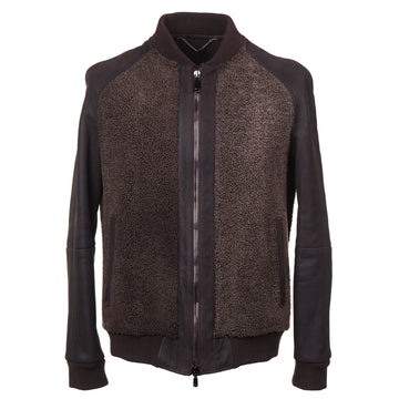 Cesare Attolini Shearling Leather Bomber Jacket - Top Shelf Apparel