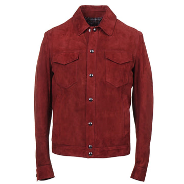 Cesare Attolini Wool-Lined Burgundy Suede Jacket - Top Shelf Apparel