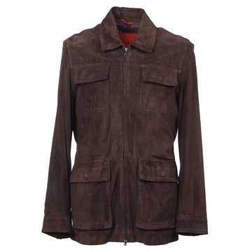 Isaia Perforated Lamb Suede Safari Jacket - Top Shelf Apparel