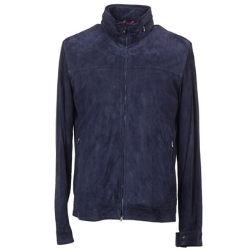 Isaia Suede 'Aqua Leather' Bomber Jacket - Top Shelf Apparel