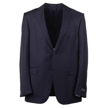 Ermenegildo Zegna Navy Blue Wool and Silk Suit