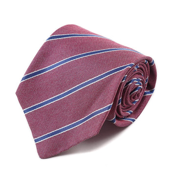 Isaia Silk Tie with Ribbon Stripe Pattern