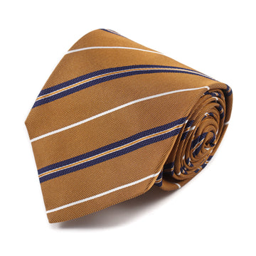 Isaia 7-Fold Tie with Ribbon Stripe Pattern