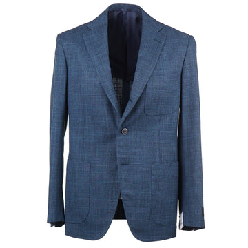 Belvest Woven Houndstooth Wool-Silk Suit