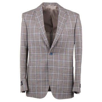 Belvest Slim-Fit Layered Check Wool-Silk Suit