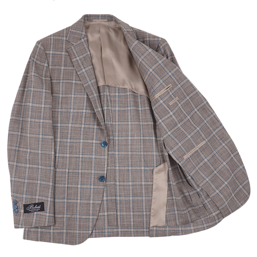 Belvest Slim-Fit Layered Check Wool-Silk Suit - Top Shelf Apparel