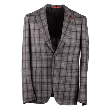 Isaia Slim-Fit Shadow Check Wool Suit